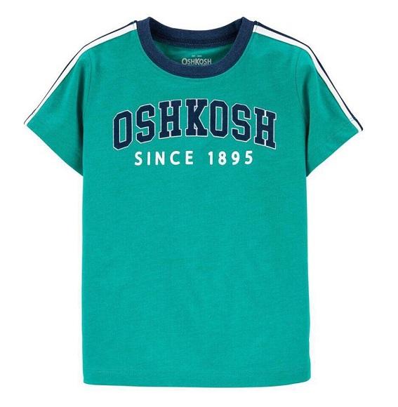 BT-Áo TN Oshkosh 6m~14 xanh lá logo
