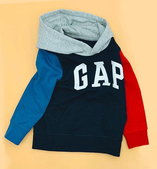 BT-Áo Hoodie Gap Kid navy logo trắng