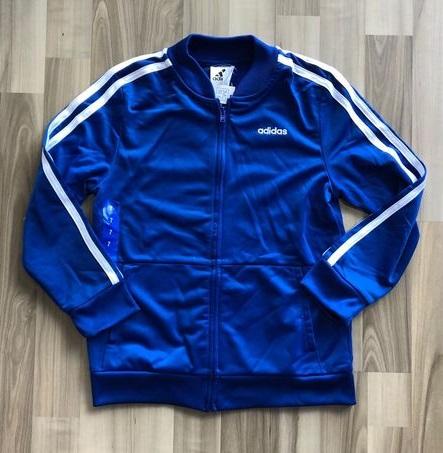 BT-Áo khoác Adidas xanh biển viền trắng