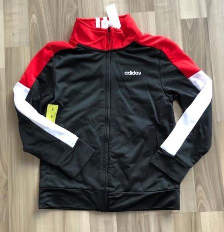 BT-Áo khoác Adidas đen tay nối đỏ