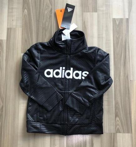 BT-Áo khoác Adidas đen chữ trắng