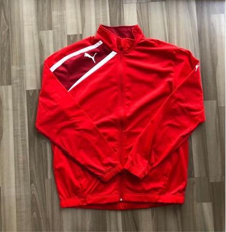 NAM-Áo khoác thể thao Puma đỏ viền đỏ đậm