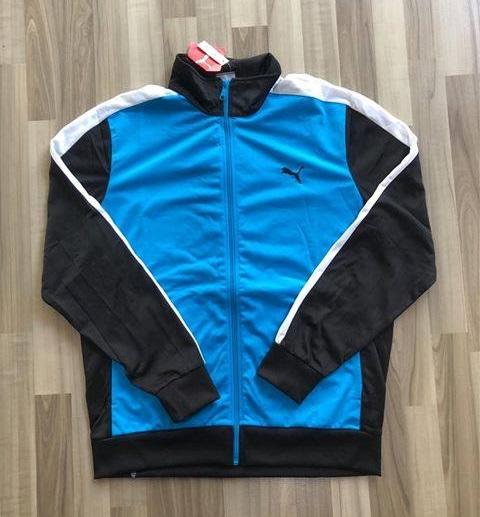 NAM-Áo khoác thể thao Puma xanh dương lưng đen