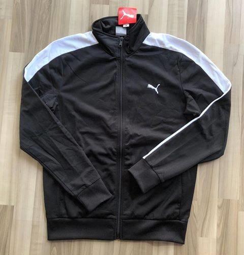 NAM-Áo khoác thể thao Puma đen viền trắng