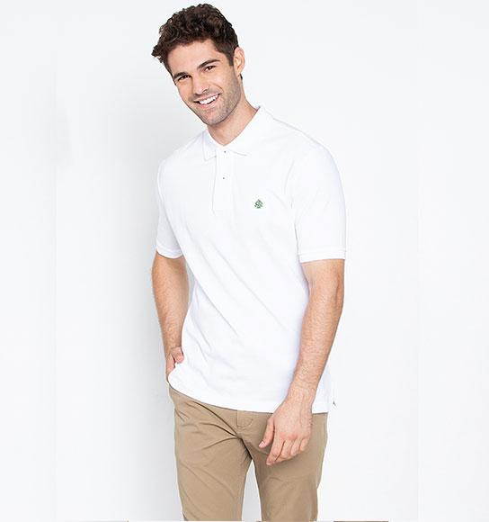 NAM-Áo Polo Springfield trắng