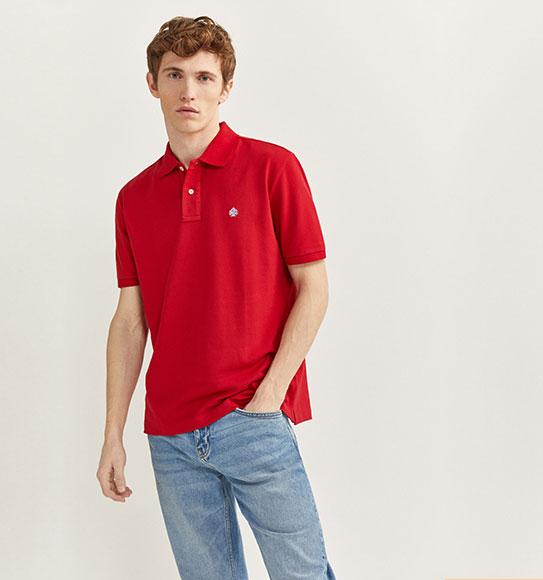 NAM-Áo Polo Springfield đỏ