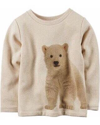 BG-Áo nỉ Carters TD màu trắng hình gấu