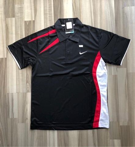 NAM-Áo Nike đen vai đỏ