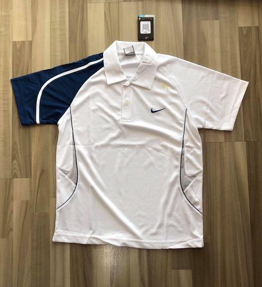 NAM-Áo Nike trắng tay xanh