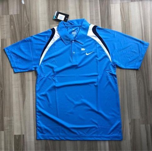 NAM-Áo Nike xanh dương vai navy trắng