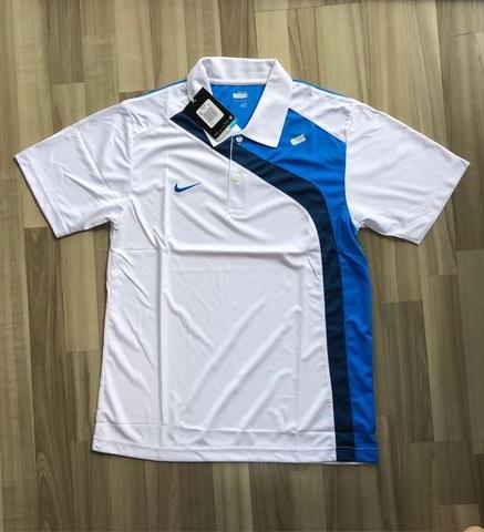 NAM-Áo Nike trắng viền xanh navy