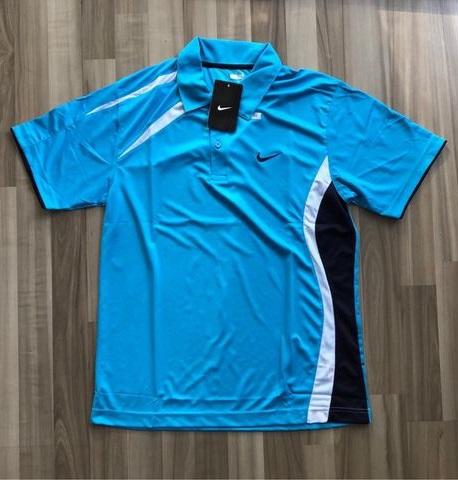 NAM-Áo Nike xanh dương viền trắng navy