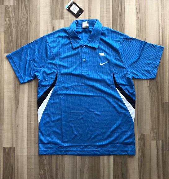 NAM-Áo Nike xanh dương viền đen trắng
