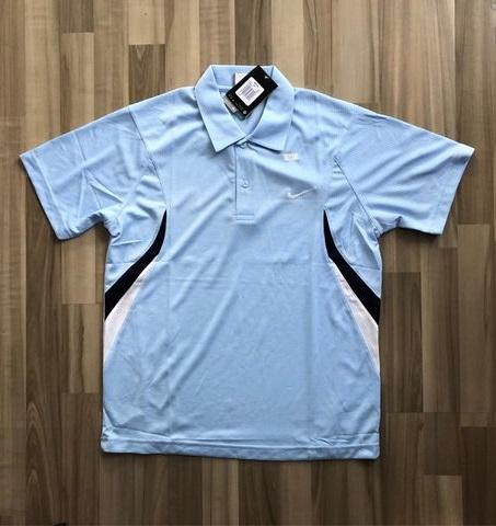 NAM-Áo Nike xanh da trời viền navy