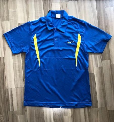 NAM-Áo Nike xanh dương vai trắng vàng