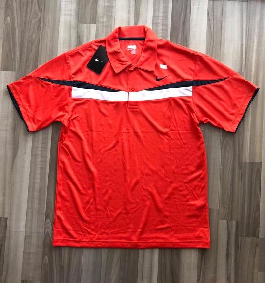 NAM-Áo Nike cam viền trắng ngang