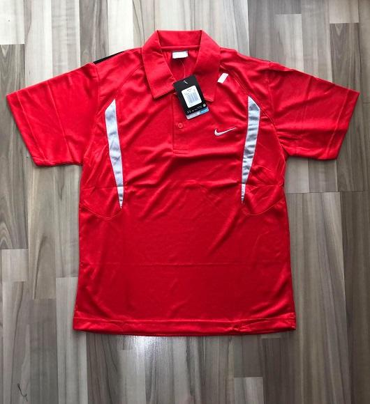 NAM-Áo Nike đỏ viền xám nhạt