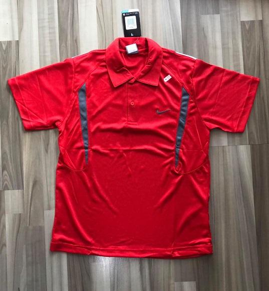 NAM-Áo Nike đỏ viền xám đậm