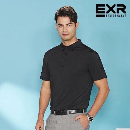 NAM-Áo Polo EXR đen