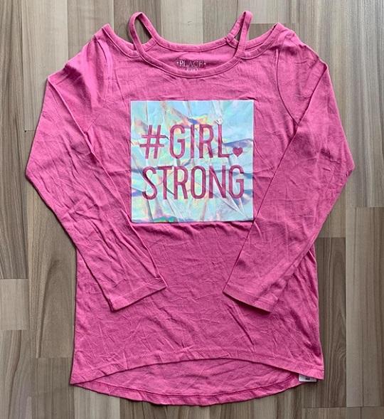 BG-Áo TD Place hồng girl strong