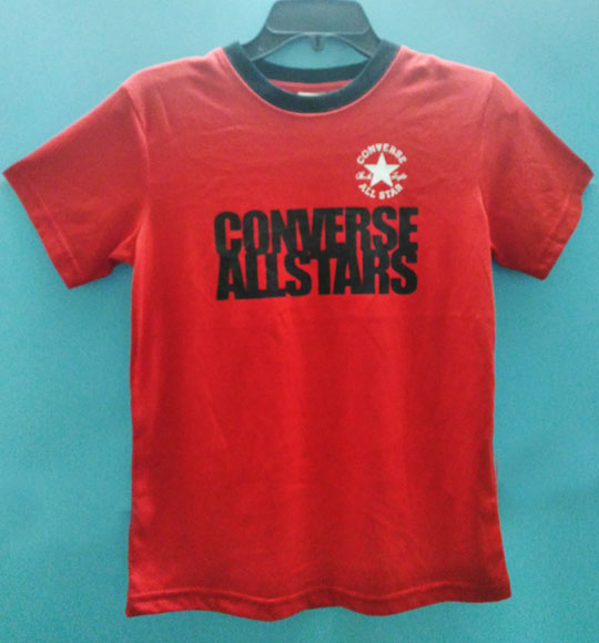 BT-Áo TN Converse cotton đỏ logo đen