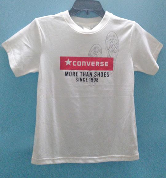 BT-Áo TN Converse cotton trắng logo đỏ