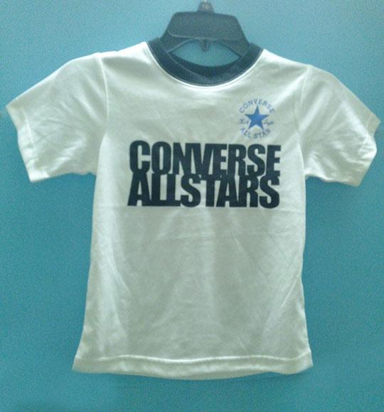 BT-Áo TN Converse cotton trắng logo đen