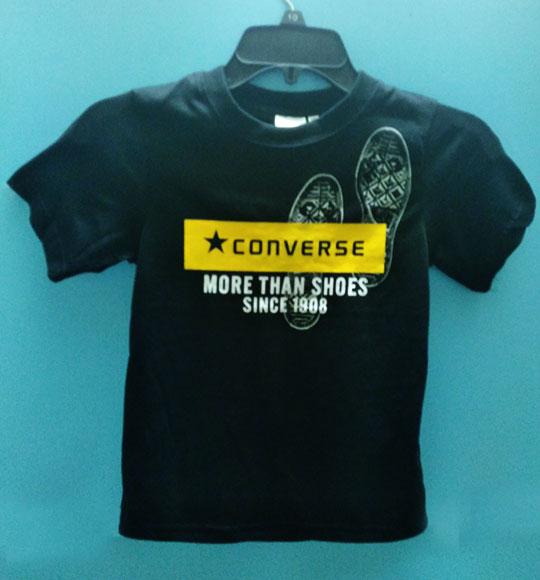 BT-Áo TN Converse cotton đen logo vàng