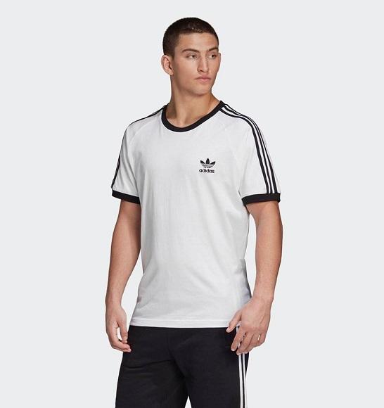 NAM-Áo thể thao Adidas trắng sọc đen