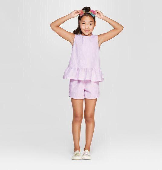 BG-Set bộ áo váy + quần short Cat & Jack