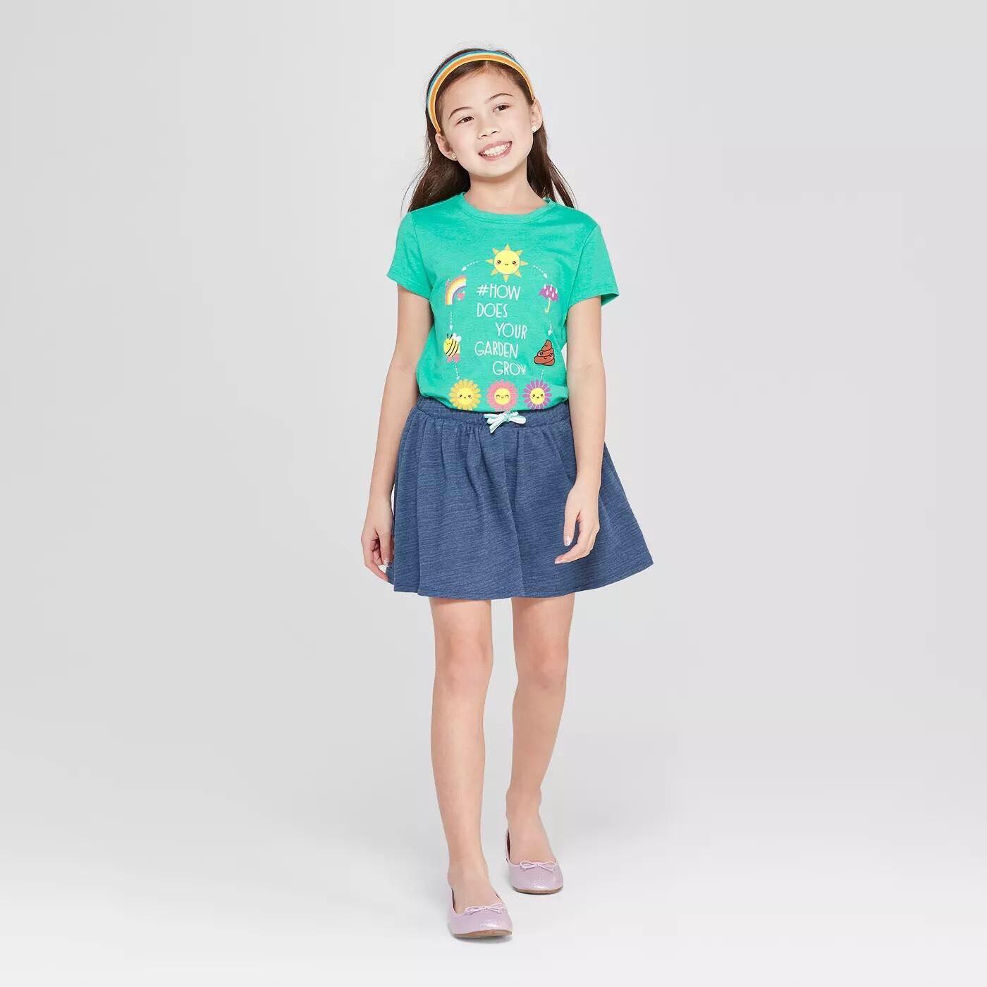 BG-Chân váy Cat & Jack xám xanh