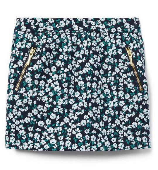BG-Chân váy Jannie & Jack đen hoa trắng