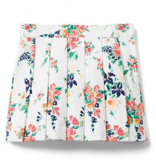 BG-Chân váy Jannie & Jack trắng hoa vàng