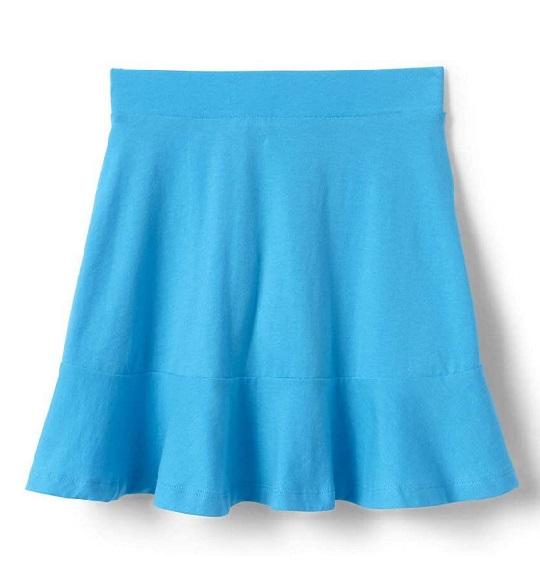 BG-Chân váy Lands End xanh da trời