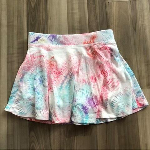 BG-Chân váy thun Place hồng ombre xanh biển