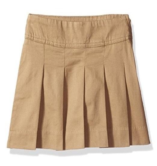 BG-Chân váy khaki  Place kem đậm vạt dài