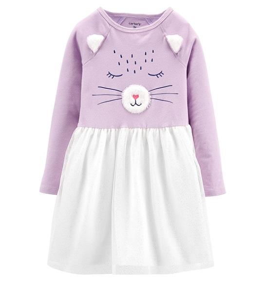 BG-Đầm TD Carters tím mèo