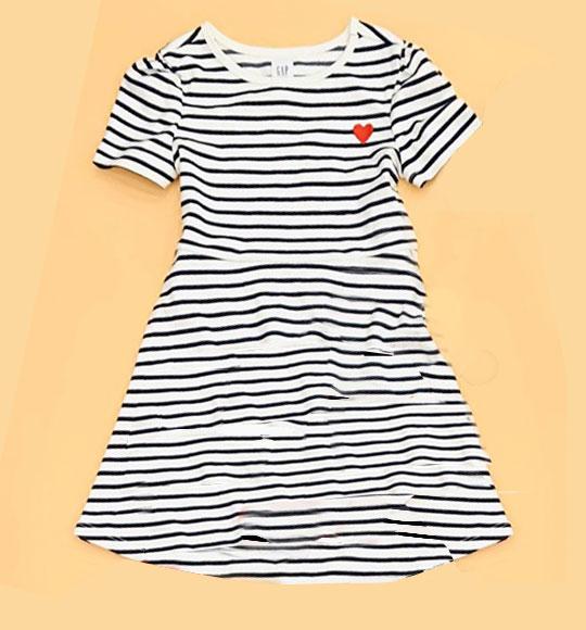 BG-Đầm Gap /H&M trắng sọc đen