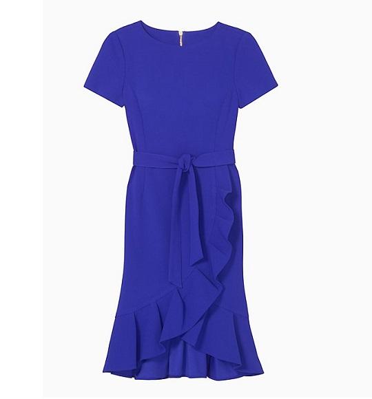 NU- Đầm CK vạt chéo chít eo xanh