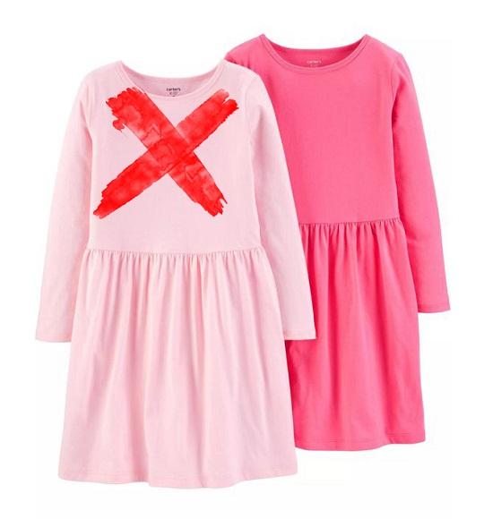 BG-Đầm TD Carters cotton toàn thân l1 hồng đậm