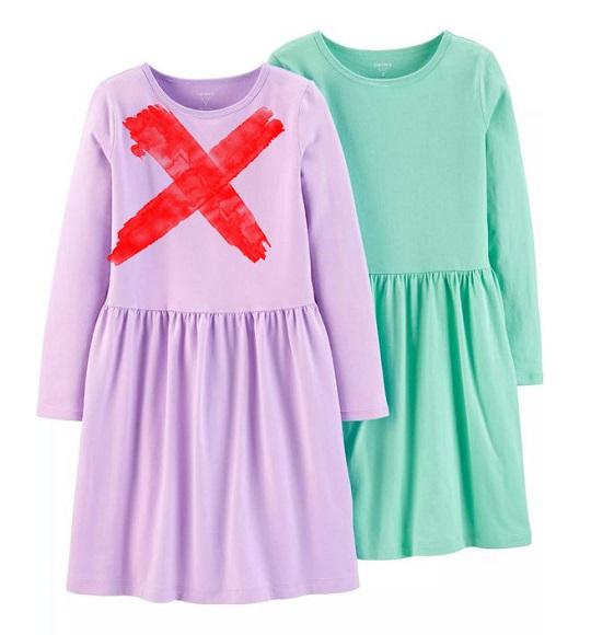 BG-Đầm TD Carters cotton toàn thân l1 xanh ngọc