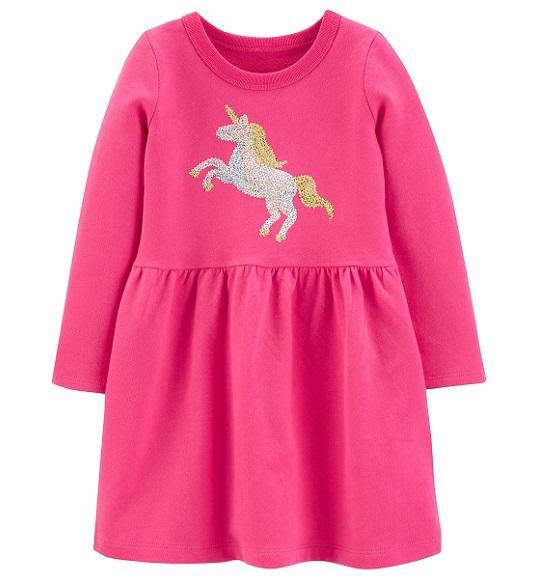 BG-Đầm TD kim sa Carters hồng sen ngựa
