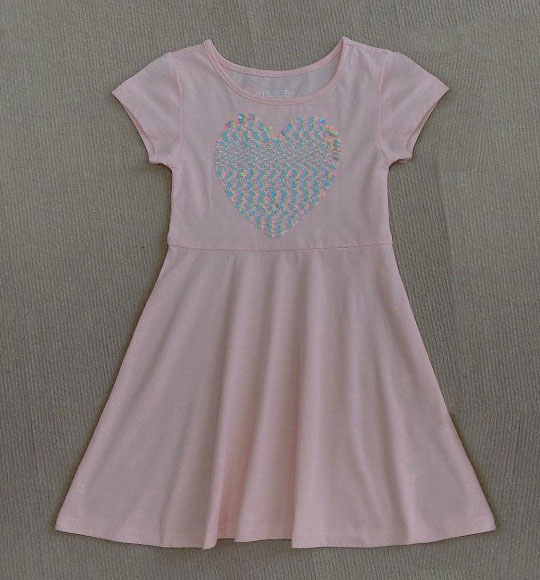 BG-Đầm Place hồng tim màu