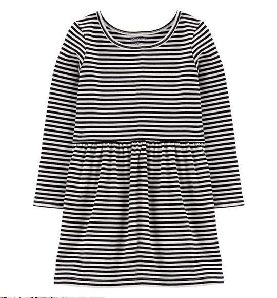 BG-Đầm TD Carters đen sọc trắng