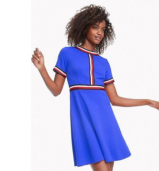 NU-Đầm Tommy Hilfiger xanh dương