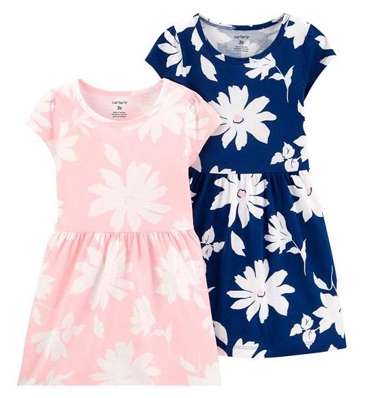 BG-Đầm Carters hồng nhạt hoa