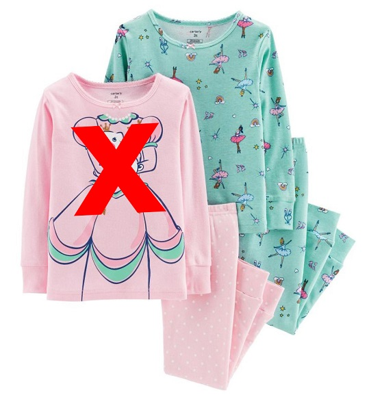 BG-Bộ Sleepwear S2 Carters xanh bé gái
