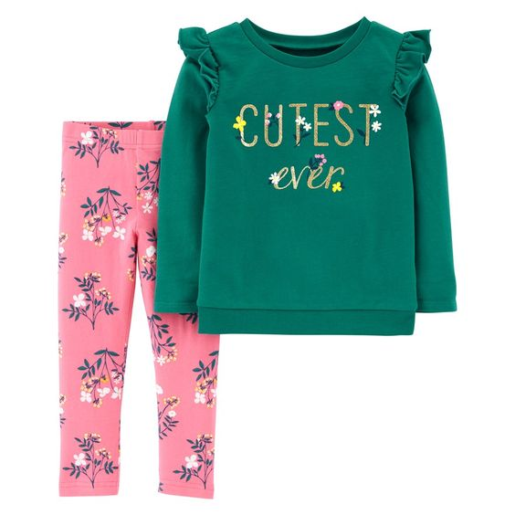 BG-Bộ 2 món áo tay dài + quần legging Carters