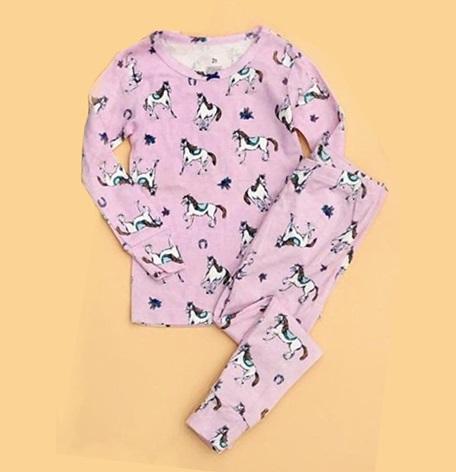 BG-Bộ Sleepwear S2 Carters tím ngựa nhỏ
