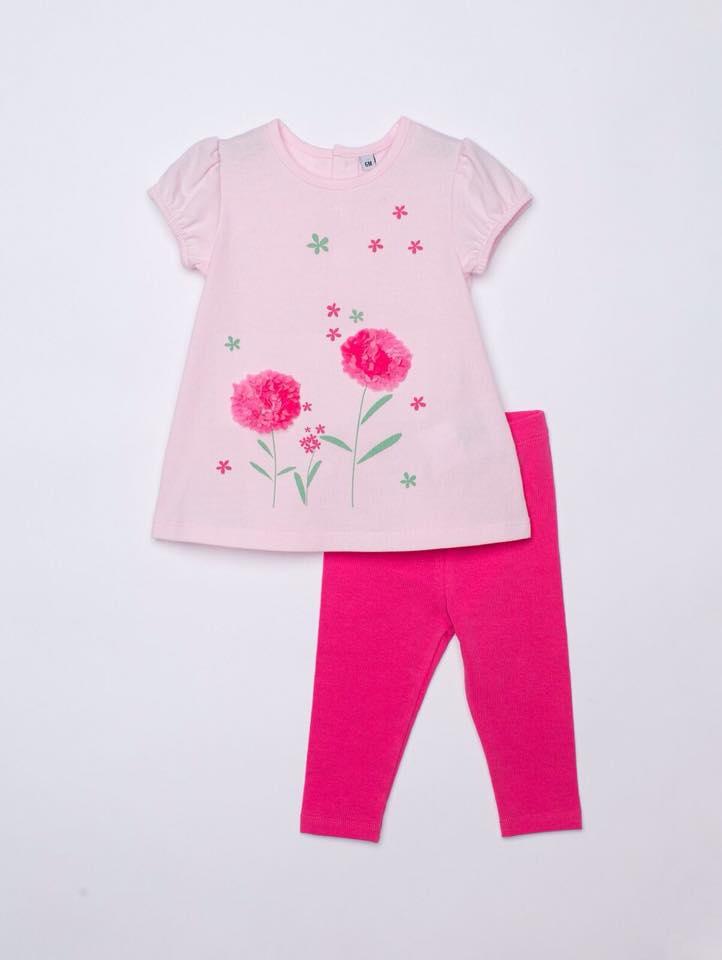 BG-Bộ 2 món Plus áo hồng, quần đỏ lợt